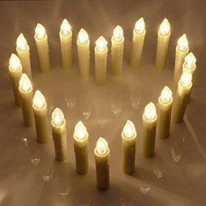 Bougies LED lumineuses avec télécommande, 20 belles bougies pour toutes les occasions spéciales by CASCACAVELLE de la marque Cascacavelle image 0 produit