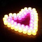 Bougies LED, Morbuy Flamme Vacillante 24PC Lumière Piles Alimentation Proposition de Mariage Romantique Anniversaire Décoration de Halloween Maison Mariage Anniversaire Soirée Fête (Rose) de la marque Morbuy image 1 produit