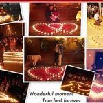 Bougies LED, Morbuy Flamme Vacillante 24PC Lumière Piles Alimentation Proposition de Mariage Romantique Anniversaire Décoration de Halloween Maison Mariage Anniversaire Soirée Fête (Rose) de la marque Morbuy image 3 produit