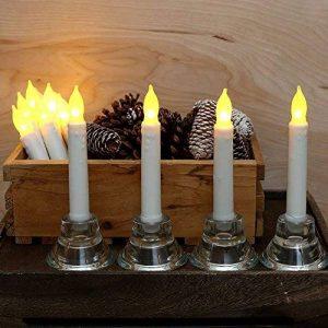 Bougies Led,Thé Lumière,Ensemble de 12 Bougies de Chandelle de LED,Ampoules Jaunes Vacillantes, à Piles pour la Décoration Intérieure pour Noël et Fêtes, Anniversaire,Fêtes, Mariages de la marque Liyoung image 0 produit