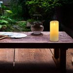 Bougies sans flamme,Ivoire sans flamme de décoration de bougies piliers (15,2 cm). Realistic Flamme LED Vacillante en cire véritable couleur ivoire. Télécommande avec fonction minuteur pour nouvel an (1*1, Ivory) de la marque Antizer image 4 produit