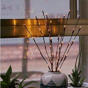 Branche Arbre Lumineux LED 77cm 20-LEDs Guirlandes Luminineuses Pour la Fleur Plante Artificielle Décoration Intérieure, Bureau, Chevet, Chambre, Maison - Blanc Chaud de la marque AZX image 0 produit