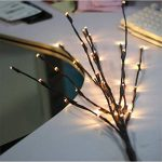 Branche Arbre Lumineux LED 77cm 20-LEDs Guirlandes Luminineuses Pour la Fleur Plante Artificielle Décoration Intérieure, Bureau, Chevet, Chambre, Maison - Blanc Chaud de la marque AZX image 3 produit