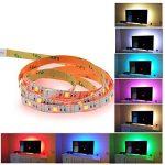 BRTLX LED TV Rétroéclairage Bande Kit D'éclairage 4 * 50cm Pour HDTV Cinéma Maison Accent Éclairage USB Alimenté RGB 5050 SMD Multicolore Avec 24 Clé Télécommande de la marque BRTLX image 1 produit