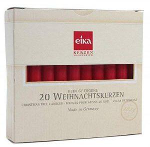 Brubaker Lot de 20 bougies motif arbre de Noël Fabriquées en Allemagne Rouge de la marque Eika image 0 produit