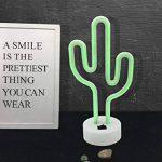 Cactus Neon Light Décoration de bébé, lumière de nuit, Cactus Lampes pour enfants Chambre à coucher salle de fête d'anniversaire, enfants, salon de jardin, cadeau de fête de mariage (Cacuts-battery + USB) de la marque GB UNICORN image 1 produit