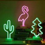 Cactus Neon Light Décoration de bébé, lumière de nuit, Cactus Lampes pour enfants Chambre à coucher salle de fête d'anniversaire, enfants, salon de jardin, cadeau de fête de mariage (Cacuts-battery + USB) de la marque GB UNICORN image 4 produit