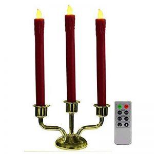 Chandelier 3 Bougies LED Télécommande Cire véritable et Base métal de la marque Fishtec ® image 0 produit