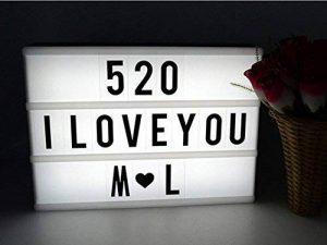 Cinéma Boîte A4, Scheam LED Cinema Lumineuse avec 96 Lettres Symboles Boite, Enseigne Lumineuse pour Décorer Anniversaire/Famille/Boutique de la marque Scheam image 0 produit