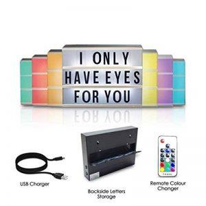 Cinéma Boîte lumineuse LED - A4 - changement de couleur - Lettres et Emojis - Télécommande - Stockage arrière de la marque Rovercci image 0 produit