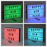 Cinéma Boîte lumineuse LED - A4 - changement de couleur - Lettres et Emojis - Télécommande - Stockage arrière de la marque Rovercci image 4 produit