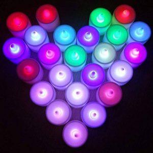 Contever® Lot de 24 Pcs Bougies LED à piles -- RGB qui change de couleur Rapidement de la marque Contever image 0 produit