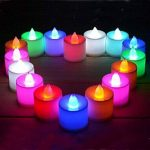Contever® Lot de 24 Pcs Bougies LED à piles -- RGB qui change de couleur Rapidement de la marque Contever image 2 produit