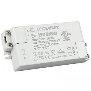 COOLWEST LED Transformateur 24W Driver 12V DC Convertisseur Transfo pour G4 GU10 MR11 MR16 Rubans de la marque COOLWEST image 0 produit