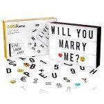 Cosi Home™ - Boîte cinématique lumineuse format A4 avec 100 lettres, émoticônes, smileys et symboles - personnalisez votre message - Piles et alimentation USB de la marque The Body Source image 2 produit