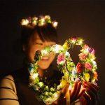 cosoon 4pc LED fleurs Couronne Bandeau–Couronnes de Fleurs Guirlande Boho pour Festival Mariage, couronne Tête Bijoux avec LED Décor T013 de la marque COSOON image 1 produit