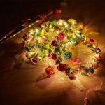 cosoon 4pc LED fleurs Couronne Bandeau–Couronnes de Fleurs Guirlande Boho pour Festival Mariage, couronne Tête Bijoux avec LED Décor T013 de la marque COSOON image 3 produit
