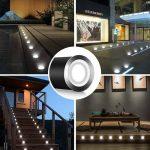 CroLED® 10x Lampe de Spot A LED pour Terrasse Enterré Plafonnier - En Aluminium 0.6W IP67 DC12V Etanche Avec Alimentation EU - Lampe Extérieur Déco Pour Chemin Escalier Piscine Lampe Sécurité (kit 16 spot) de la marque CroLED image 4 produit