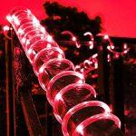 Cuzile 50LED Lampes solaires de corde Rouge Guirlande lumineuse extérieur étanche Idéal pour les décorations de Noël Jardin Pelouse terrasse mariages fêtes de la marque cuzile image 1 produit