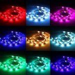cuzile Barre 50cm Stripe Lumière RGB Multicolore avec batterie Box Piles + Mini Contrôleur pour armoire de cuisine Luminaire d'intérieur encastrable avec bandes LED Strip de la marque CuZiLe image 1 produit
