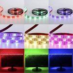 cuzile Barre 50cm Stripe Lumière RGB Multicolore avec batterie Box Piles + Mini Contrôleur pour armoire de cuisine Luminaire d'intérieur encastrable avec bandes LED Strip de la marque CuZiLe image 3 produit