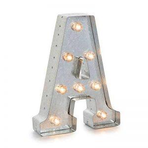 Darice 5915-702 Lettre A Lumineuse LED Métal Argent 26,6 x 20 x 5 cm de la marque Darice image 0 produit