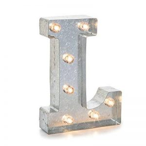 Darice 5915-713 Lettre L Lumineuse LED Métal Argent 26,6 x 20 x 5 cm de la marque Darice image 0 produit