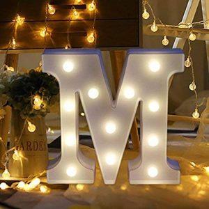 Décoration à la maison,Fulltime®26 A-Z Alphabet LED Light Lettres En Plastique Lights Debout Suspendu Pour Weding (M) de la marque Fulltime® image 0 produit