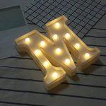Décoration à la maison,Fulltime®26 A-Z Alphabet LED Light Lettres En Plastique Lights Debout Suspendu Pour Weding (M) de la marque Fulltime® image 1 produit