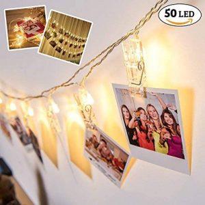 Décorations de la Saint Valentin - 50 photo clip lumières de guirlandes, led decoration chambre décoratives pinces pour accrocher des images, des notes et des photos de la marque The Twiddlers image 0 produit