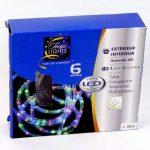 DECO NOEL - Guirlande Tube lumineux 6 mètres Ampoules LED multicolores et 8 jeux de lumière de la marque FEERIE LIGHTS image 1 produit