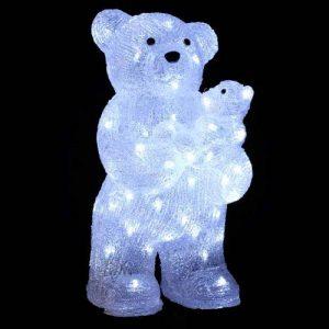 DECO NOEL - OURS et OURSON lumineux - effet givré - 56 lampes LED Blanches de la marque FEERIC LIGHTS image 0 produit