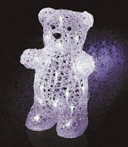 DECO NOËL - OURS lumineux - effet givré - 30 LED Blanc froid de la marque FEERIC LIGHTS & CHRISTMAS image 0 produit
