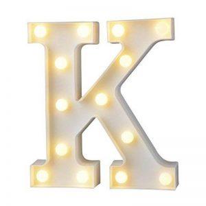 Décoration LED Alphabet Lettres,Billets décoratifs DIY LED Lettres Sign pour réceptions de mariage de partie Maison de vacances et salle de bain Bar la mariée Décor (K) de la marque Toyfun image 0 produit