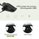[Dernière Version] Litom Lampe Lecture LED, 10 LEDs*2 Têtes Lumière de lecture Livre Rechargeable USB, 3 Mode de Luminosité, Cou Flexible 360o, Liseuse Lampe Clip pour Kindle, eReader, Enfant, Voyage, Lit de la marque Litom image 3 produit