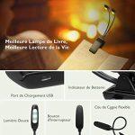 [Dernière Version] Litom Lampe Lecture LED, 10 LEDs*2 Têtes Lumière de lecture Livre Rechargeable USB, 3 Mode de Luminosité, Cou Flexible 360o, Liseuse Lampe Clip pour Kindle, eReader, Enfant, Voyage, Lit de la marque Litom image 4 produit