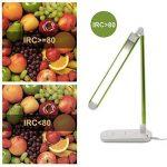 Diolumia - Lampe de Bureau LED Pliable - 8W - Contrôle Tactile - Quatre Modes d'éclairage: Lecture, travail, détente, nuit - Luminosité Réglable sans palier - 2700-6500K - Fonction mémoire - Lampe de Table Articulée - Variateur Intégré - IRC>80 - Vert de image 1 produit