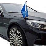 DIPLOMAT-FLAGS Porte-Drapeau de Voiture Diplomat-Z-Chrome-MB-W222 pour Mercedes-Benz Classe-S W222 (2013-) de la marque DIPLOMAT-FLAGS image 1 produit