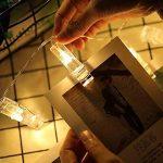 Dricar 5M 40 LEDs Photos Clips Chaîne Light Guirlande lumineuse Étanche, 8 Modes Décoration Maison Jardin Fête Cérémonie pour Accrocher Photo Mémos Carte Artwork, Saint Valentin Noël Anniversaire Fête, Blanc Chaud de la marque Dricar image 1 produit