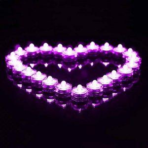 E-Goal Forme florale imperméable LED bougies Flameless Safety Tea Light - Violet (12 pièces) de la marque E-Goal image 0 produit