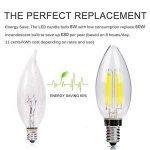 E14 Bougie Ampoule LED 6W Candle Light Blanc Froid 4500k ,480lm,Equivalent à Ampoule Halogène 60W,360° Faisceau,220-240V de la marque DaSinKo image 2 produit