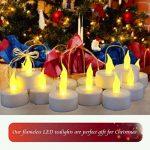 E2Buy sans Flamme LED Thé lumières, [24à Piles] vacillante LED Bougies, réaliste Bougie électrique Faux en Jaune Chaud–Idéal pour la Saint-Valentin, Halloween, Noël, Anniversaire Décoration de la marque E2Buy image 2 produit