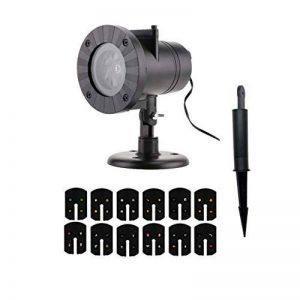 Eiito projecteur noel exterieur Intérieur led, projecteur noel interieur 12 Motifs Animées ou Statiques Projecteur de Jardin LED Parfait pour les Fêtes de la marque Eiito image 0 produit