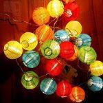 Eleganbello Lanterne Multicolores Guirlande Lumineuse 20 LED 4 Mètres Batterie Décoration Intérieure et Extérieure pour jardin, terrasse, cour, maison, arbre de Noël, fête party etc de la marque Eleganbello image 3 produit