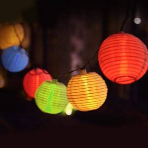Eleganbello Lanterne Multicolores Guirlande Lumineuse 20 LED 4 Mètres Batterie Décoration Intérieure et Extérieure pour jardin, terrasse, cour, maison, arbre de Noël, fête party etc de la marque Eleganbello image 0 produit