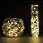 ELINKUME 16,4 pi (5 M) 50LEDs à piles étanche LED Guirlande lumières 2W 3V fil argenté Flexible guirlande lumineuse (5 M, blanc chaud 3000 K) de la marque ELINKUME image 2 produit