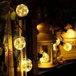 ELINKUME Guirlande Guinguette Lumineuses Boules LED USB 12LEDs G45 Ampoules Blanc Chaud Globe Boule de Lumière 5M/16,4pieds Décoration Intérieur/Extérieur de la marque ELINKUME image 1 produit