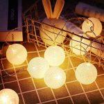 ELINKUME Guirlandes Lumineuses, 20LED Blanc Boules de Coton 8 Modes de Lumière de la Chaîne 4,0M Lampe Féerique Belle Décoration Intérieure éclairage (interface USB, éclairage blanc chaud) de la marque ELINKUME image 1 produit