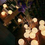 ELINKUME Guirlandes Lumineuses, 20LED Blanc Boules de Coton 8 Modes de Lumière de la Chaîne 4,0M Lampe Féerique Belle Décoration Intérieure éclairage (interface USB, éclairage blanc chaud) de la marque ELINKUME image 2 produit