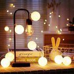 ELINKUME Guirlandes Lumineuses, 20LED Blanc Boules de Coton 8 Modes de Lumière de la Chaîne 4,0M Lampe Féerique Belle Décoration Intérieure éclairage (interface USB, éclairage blanc chaud) de la marque ELINKUME image 3 produit